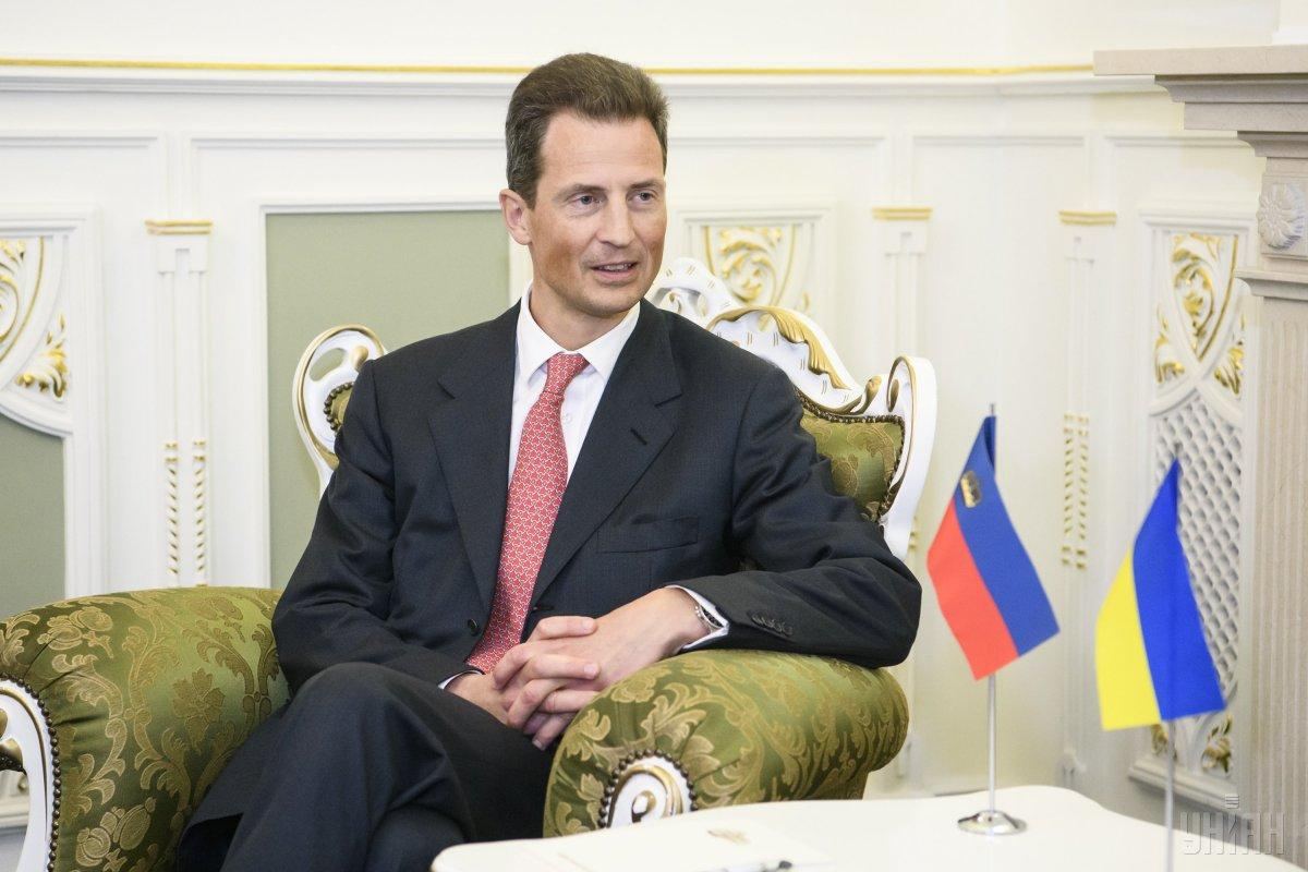 Наследный принц Княжества Лихтенштейн Алоизво время визита в Украину / фото УНИАН