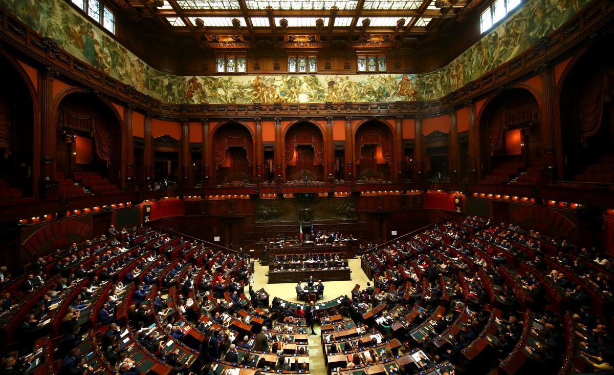 Нижняя палата парламента Италии во время выступления Джузеппе Конте / REUTERS