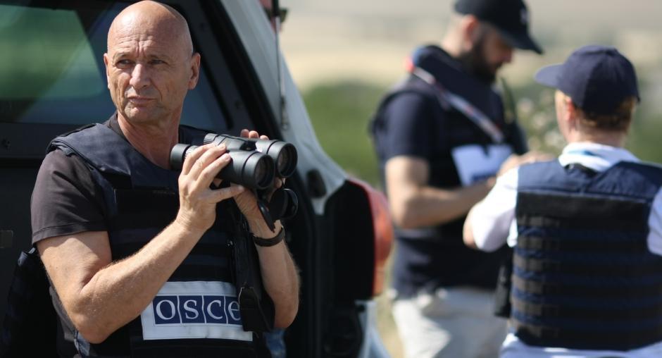 Нетверезий бойовик з молотком напугав спостерігачів ОБСЄ / фото ОБСЄ / Альфред Купперс