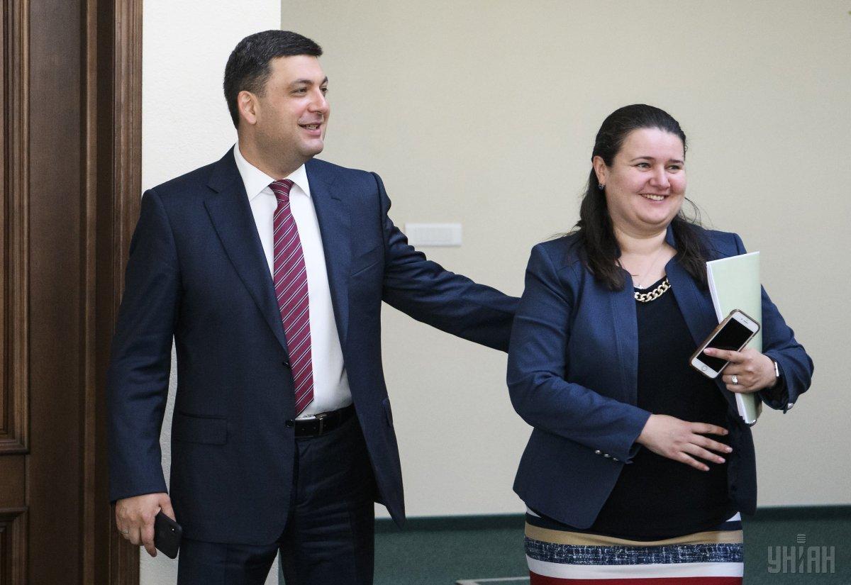 Гройсман представил и.о. министра финансов Оксану Маркарову / фото УНИАН