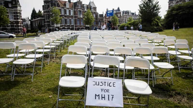 Родственники жертв провели акцию у посольства РФ в Гааге / ANP