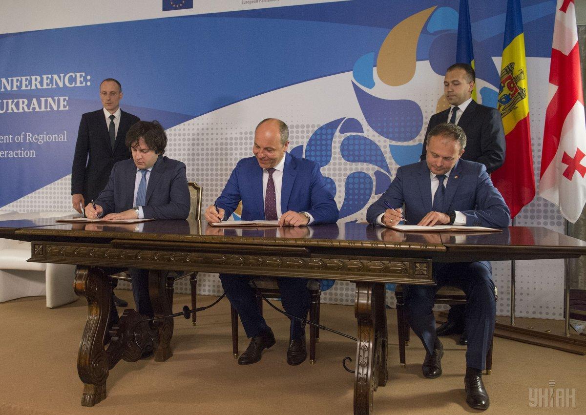 Главы парламентов Грузии и Молдовы отметили на совместных с Украиной вызовах безопасности / фото УНИАН