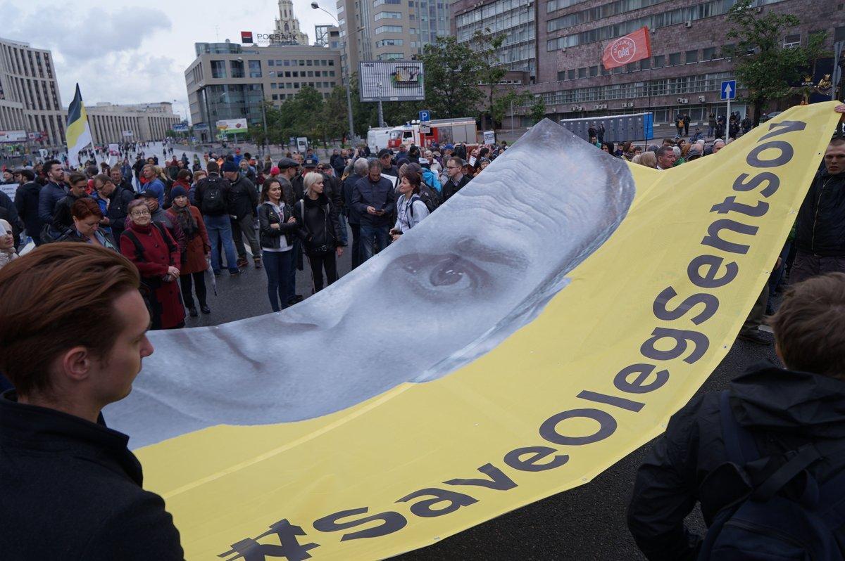 У Москві влаштували акцію на підтримку Сенцова / Twitter - Телеканал Дощ