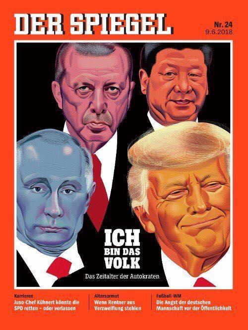 Немецкий журнал удивил изображением главы РФ / фото facebook.com/alex.golobuckij