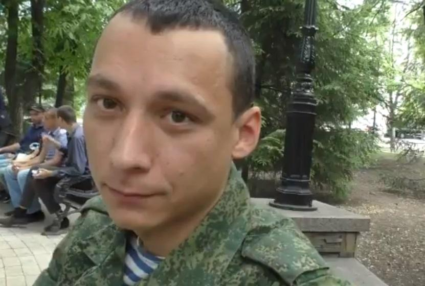 """Террорист говорит, что приехал на Донбасс """"по зову сердца"""" / Скриншот"""