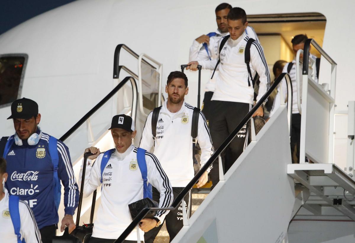 Лионель Месси вместе со сборной Аргентины в субботу прибыл в Россию для участия в ЧМ-2018 / REUTERS