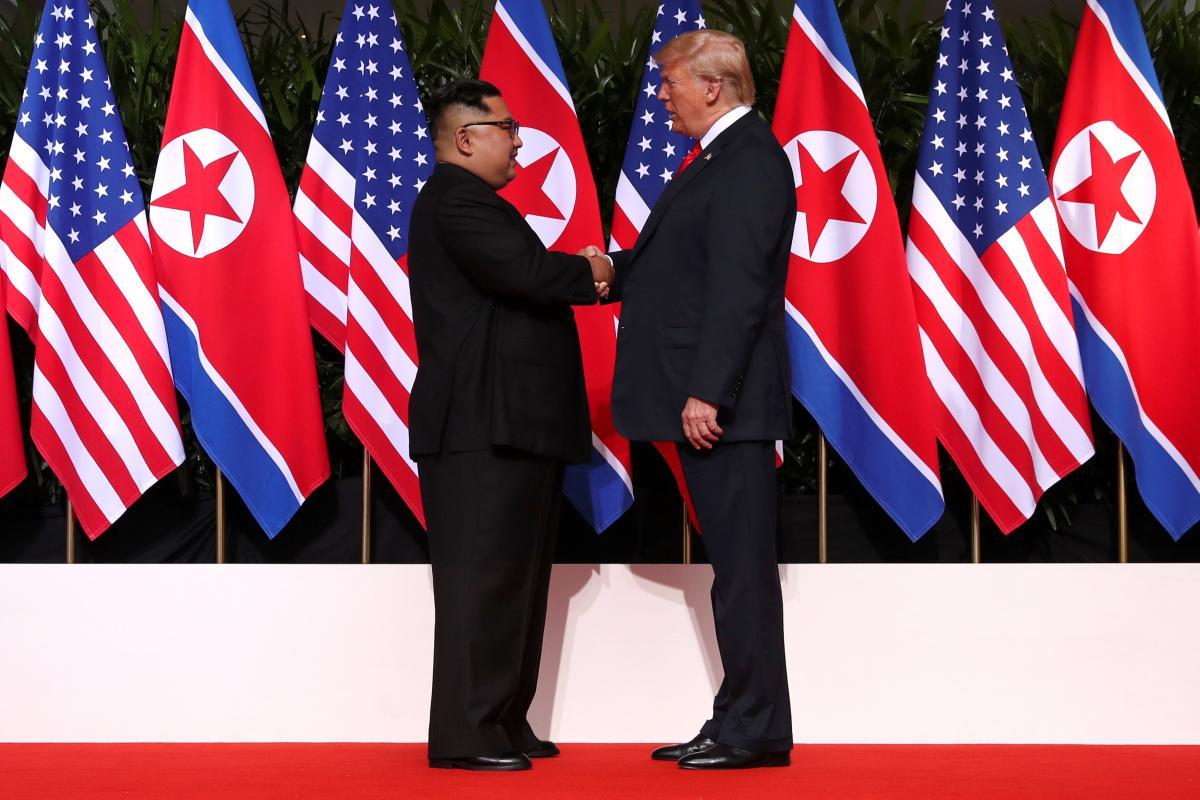 Зустріч Кім Чен Ина і Дональда Трампа у Сінгапурі / REUTERS