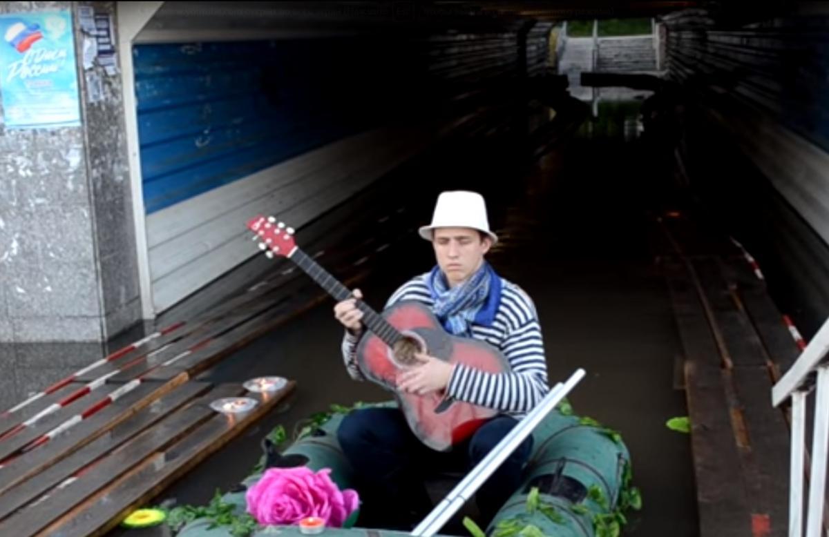 Сибирская венеция выглядит вот так / Скриншот - Youtube, Город Обь (Live)
