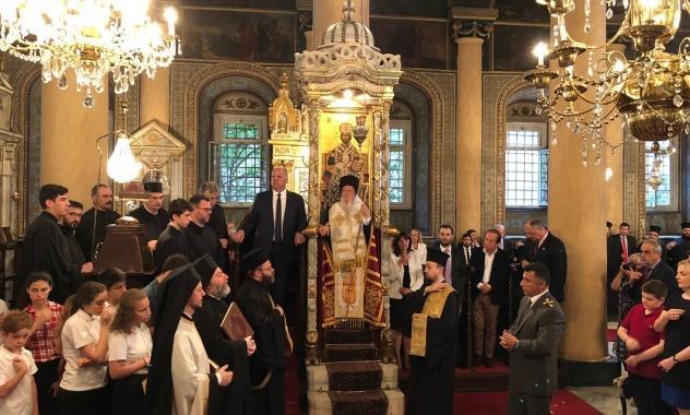 Представник РПЦ прийняв участь у святкуванні тезоіменитства Патріарха Константинопольського Варфоломія / mospat.ru
