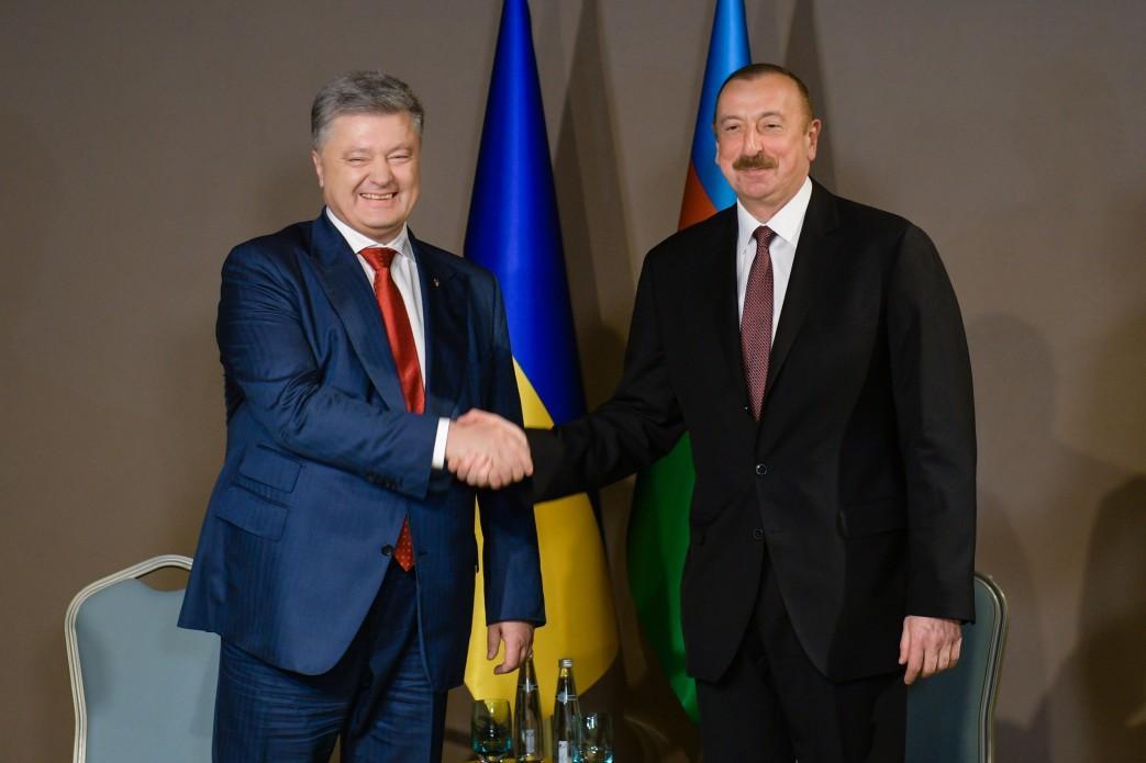 Петро Порошенко та Ільхам Алієв / фото president.gov.ua