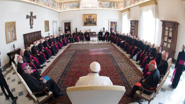 Чилийские епископы на аудиенции у Папы / vaticannews.va