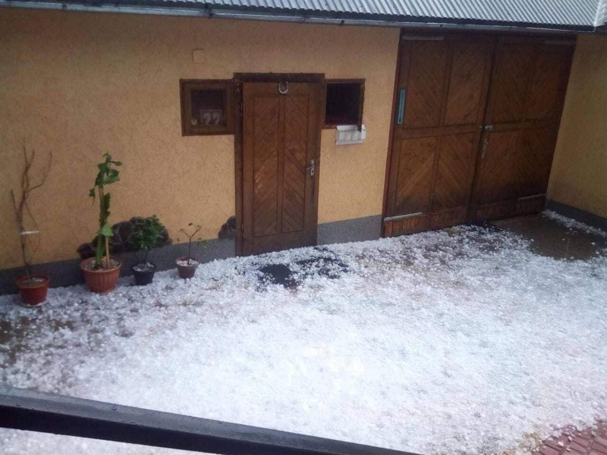 Град на Закарпатті пошкодив покрівлі будинків / ДСНС