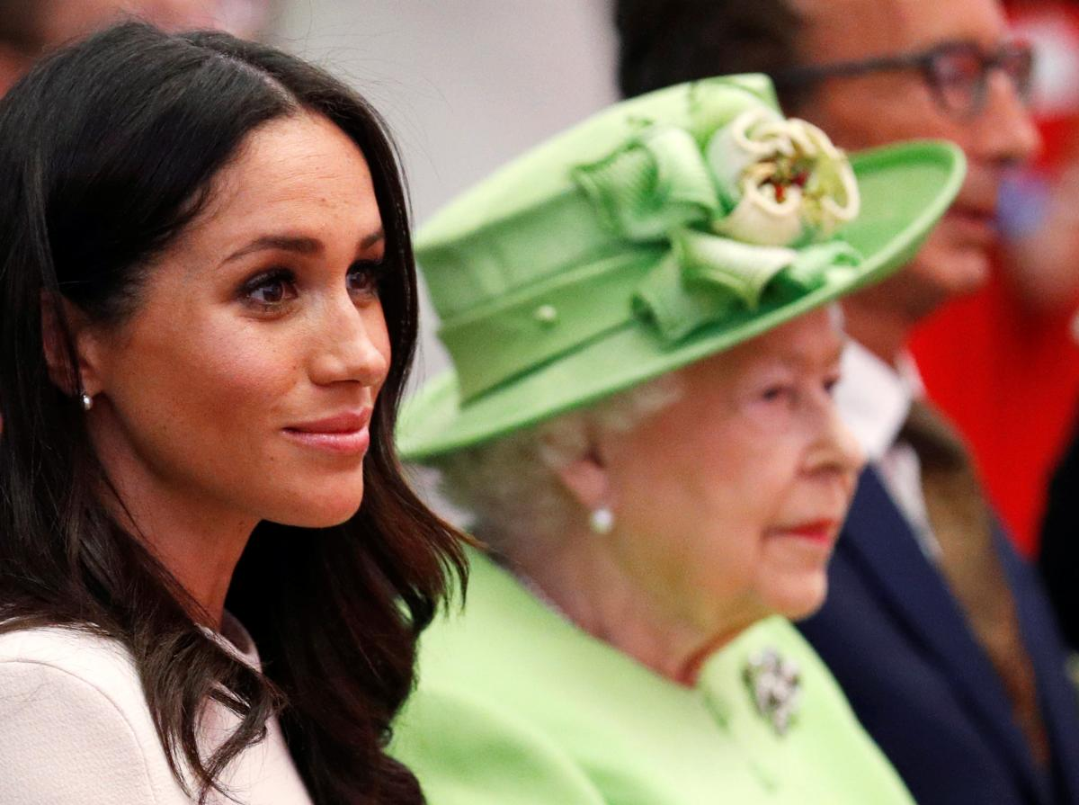 Королева Єлизавета ІІ та Меган Маркл / фото REUTERS