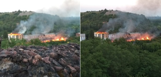 "Пожар на шахте ""Куйбышевская"" / фото twitter.com/GirkinGirkin"