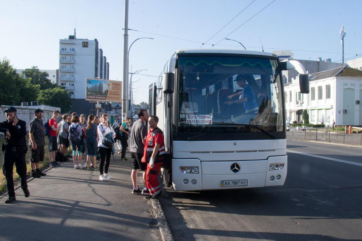 В Киеве за рулем умер водитель автобуса с детьми / фото Владислав Кузнецов / Информатор