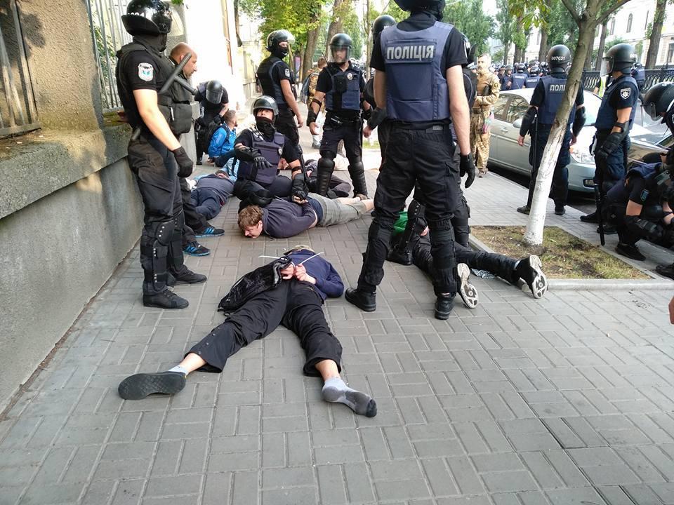 """У поліції відзвітували про затримання радикалів, які готували зрив """"КиївПрайду"""" / Facebook - C14 news - резерв"""