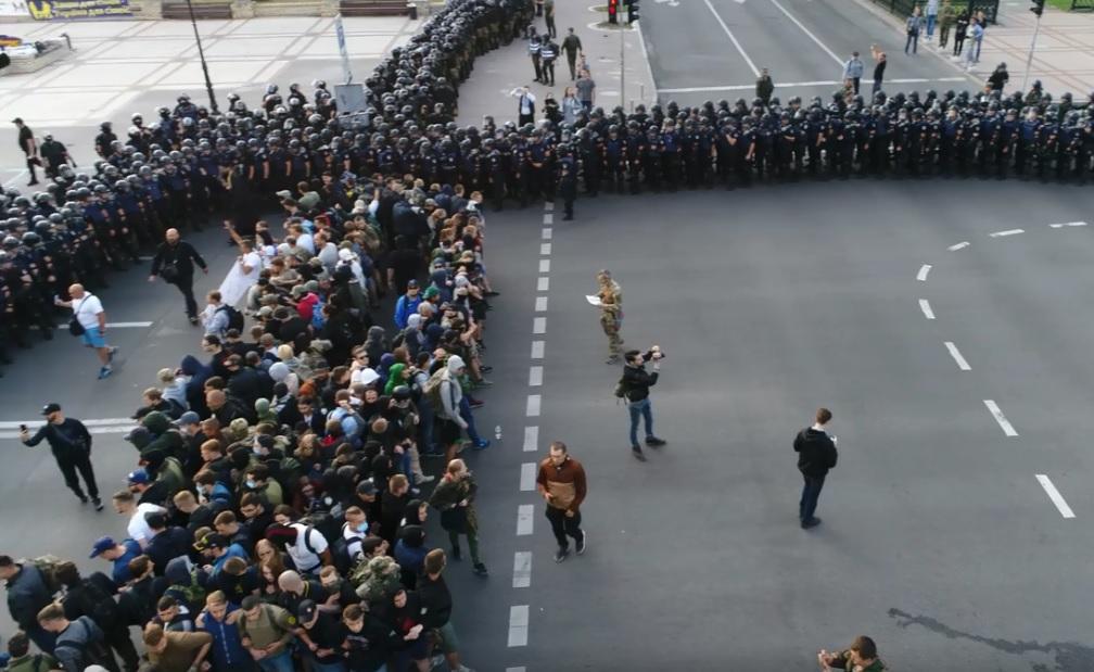 Опубліковано відео розгону акції націоналістів проти ЛГБТ-ходи/ Facebook - David Didykh
