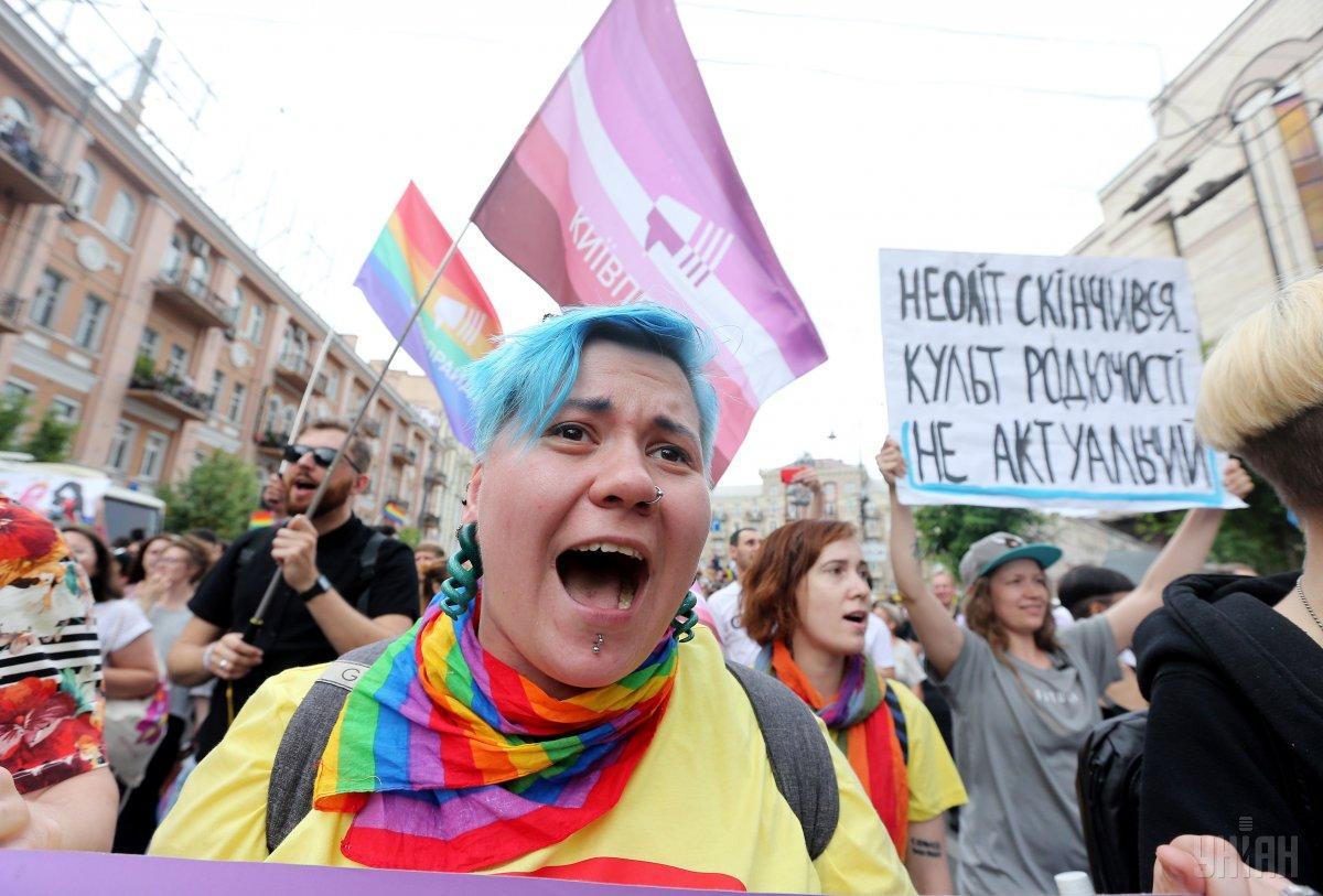 Прямо перед Маршем равенства в парламенте был зарегистрирован законопроект №8489 о запрете публичного проявления любых видов сексуальной ориентации / фото УНИАН