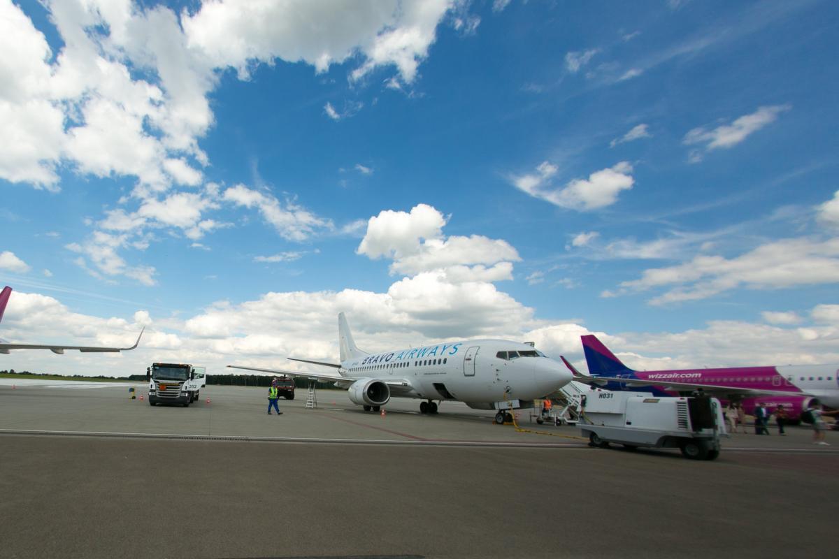 Літак авіакомпанії Bravo Airways, що виконував рейс Шарм-еш-Шейх-Запоріжжя / фото Bravo Airways
