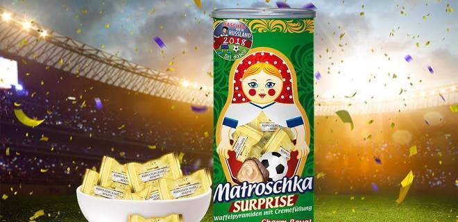 Украинские конфеты рекламируют ЧМ в России / фото facebook/www.dovgan.de
