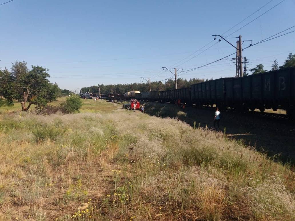 В Днепре сошел с рельсов грузовой поезд / ГУ ГСЧС Украины в Днепропетровской области