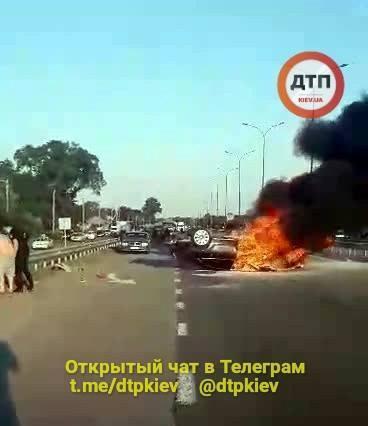 На Полтавщине врезультате ДТП загорелся автомобиль Audi, погибла девушка / фото dtp.kiev.ua