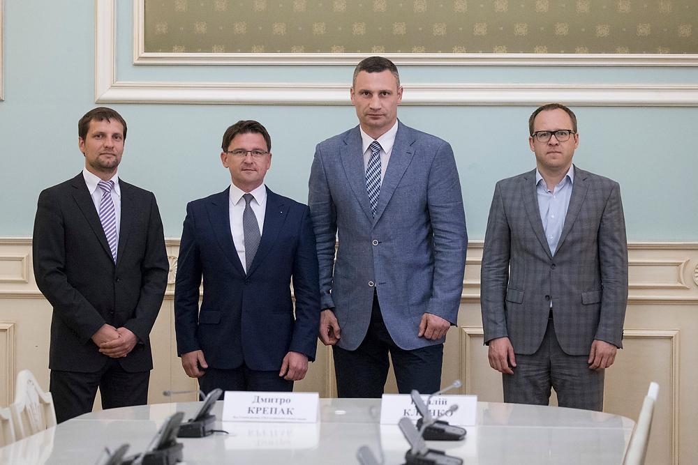 От КГГА документ подписал мэр столицы Виталий Кличко / фото kiev.klichko.org