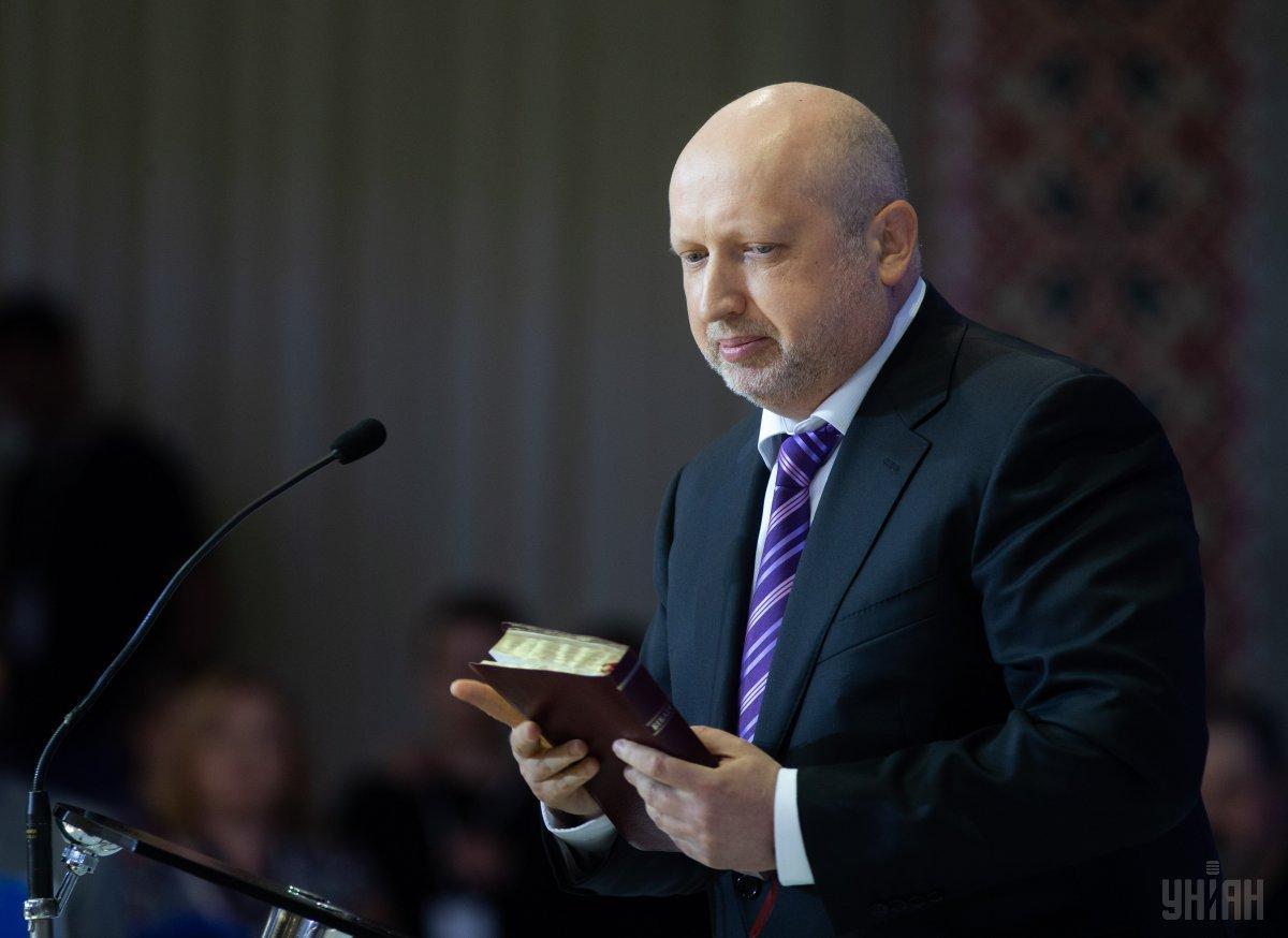 Турчинов отметил катастрофические темпы сокращения количества украинцев / фото УНИАН