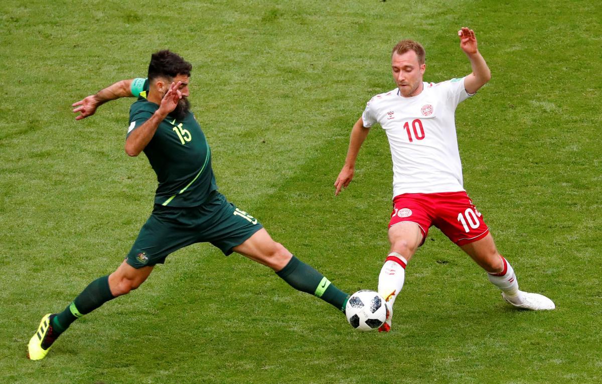 Команди Данії та Австралії зіграли внічию на ЧС-2018 / Reuters