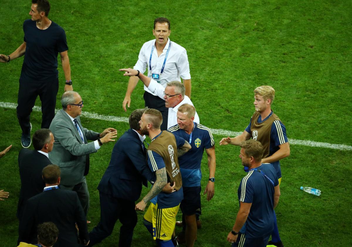 Матч Германия - Швеция закончился потасовкой / REUTERS