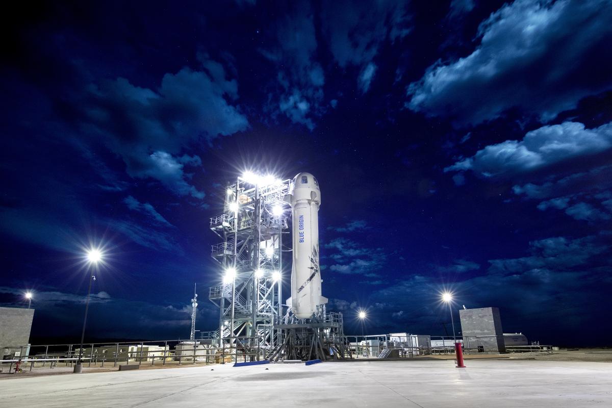 Билет на корабль New Shepard компании Blue Origin продали за 28 млн долларов / фото blueorigin.com