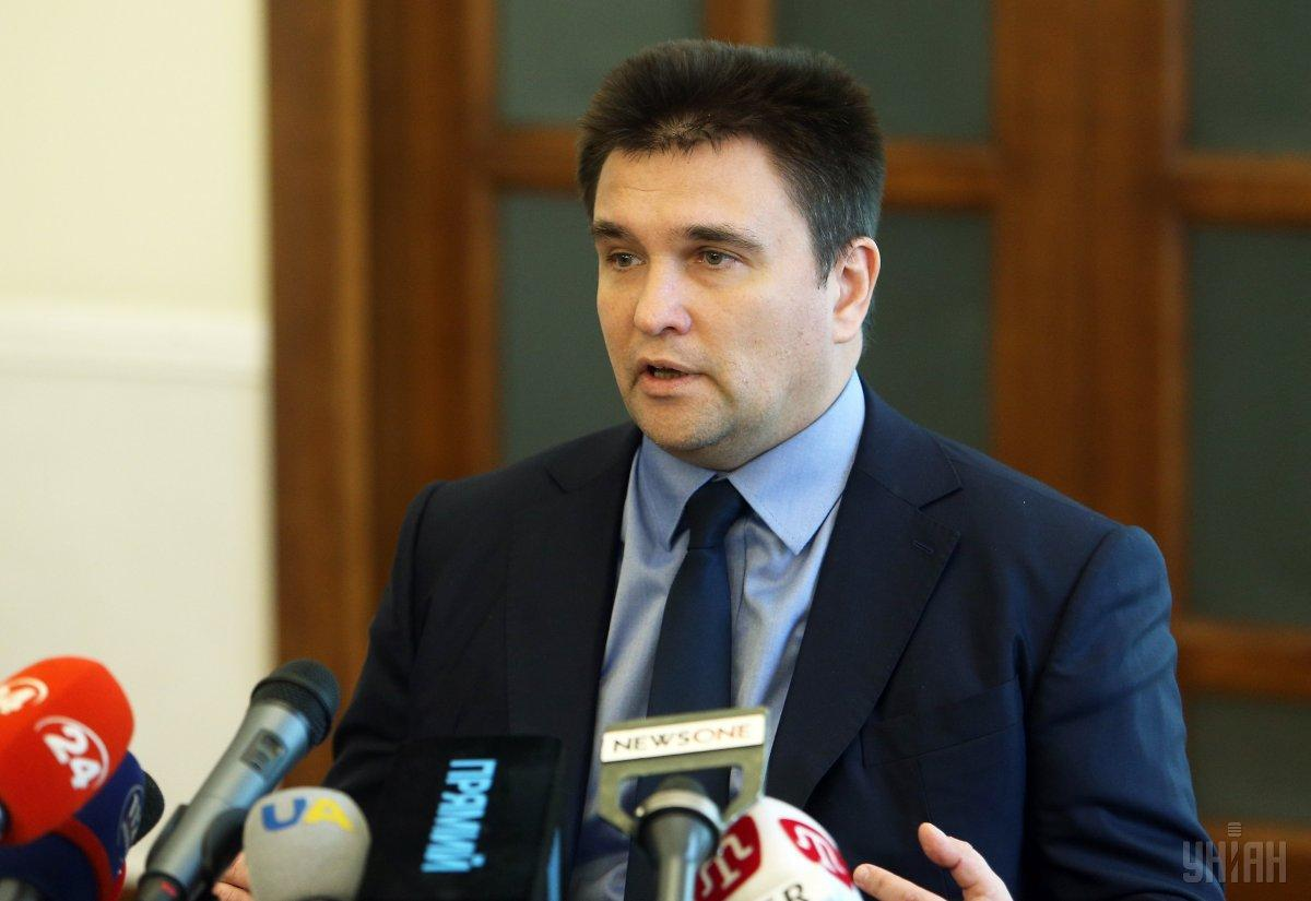 Ukrainian Foreign Minister Pavlo Klimkin / Photo from UNIAN