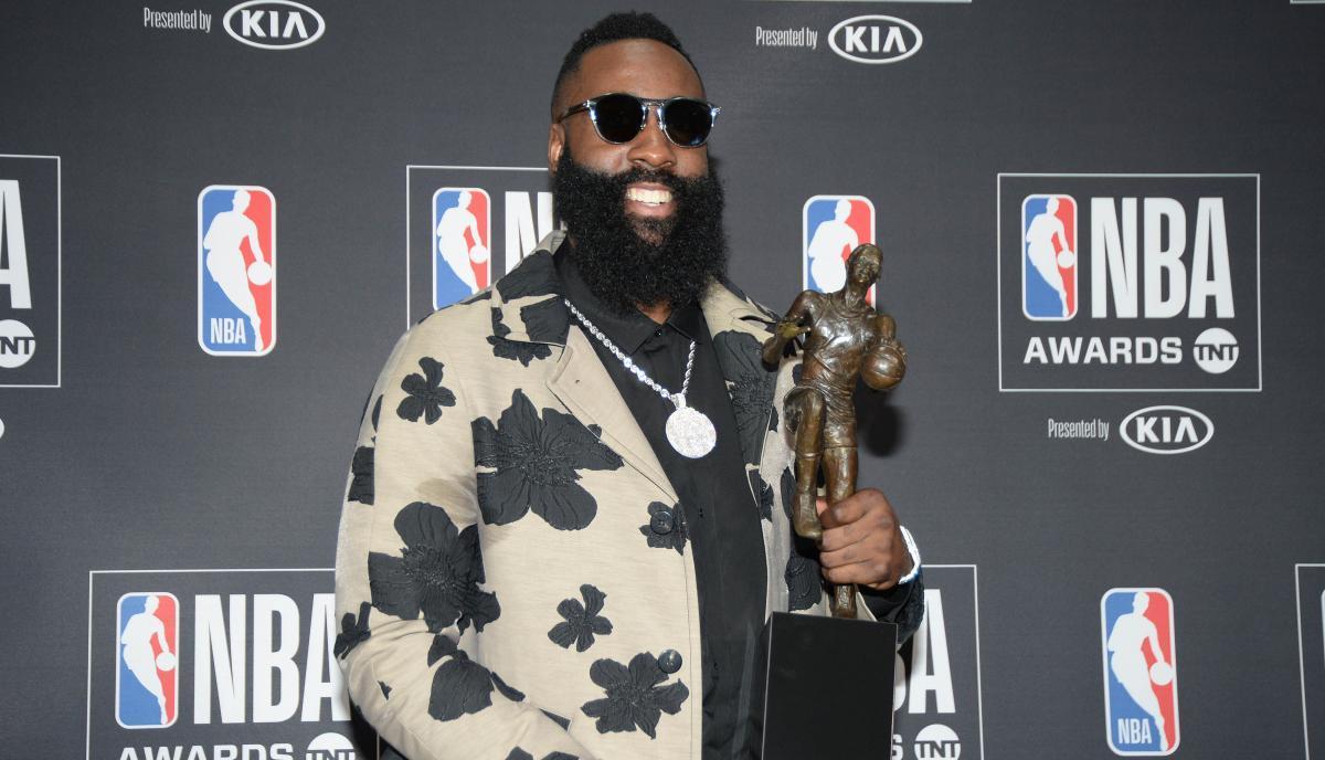 Джеймс Харден - володар титулу MVP сезону 2017/2018 / REUTERS
