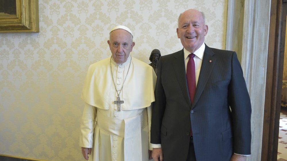 Папа Франциск принял Генерал-Губернатора Австралии / vaticannews.va