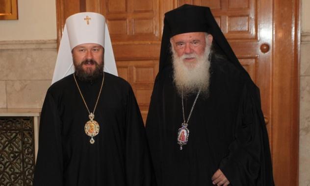 Митрополит Иларион и архиепископ Иероним/ mospat.ru
