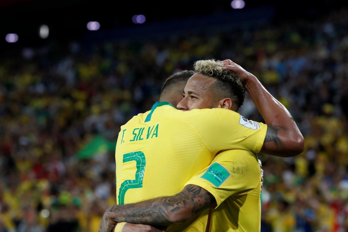 Бразилия обыграла Сербию в матче ЧМ-2018 / Reuters