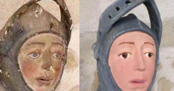 В Іспанії вчителька праці спробувала самостійно відновити статую XVI століття / twitter.com