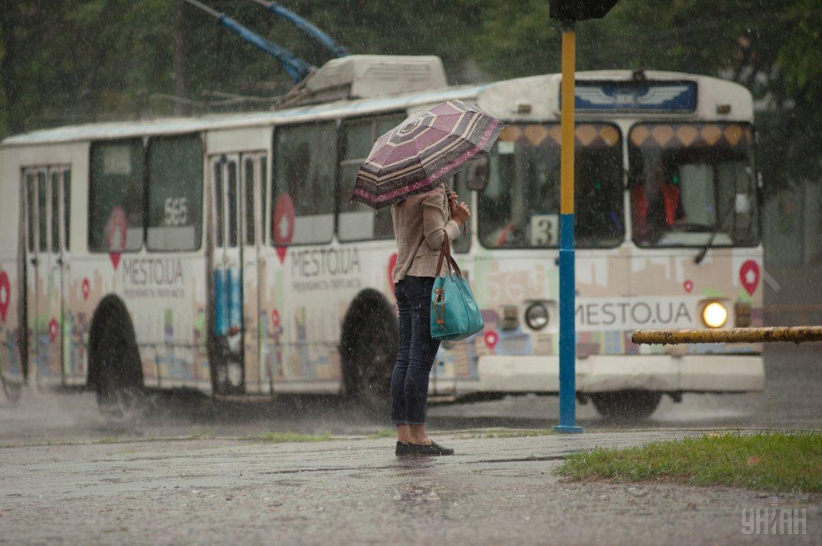 Сьогодні у столиці пройшов сильний дощ / фото УНІАН