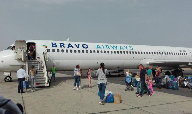 В настоящее время поломка самолета устранена \ фото bravoairways.com.ua