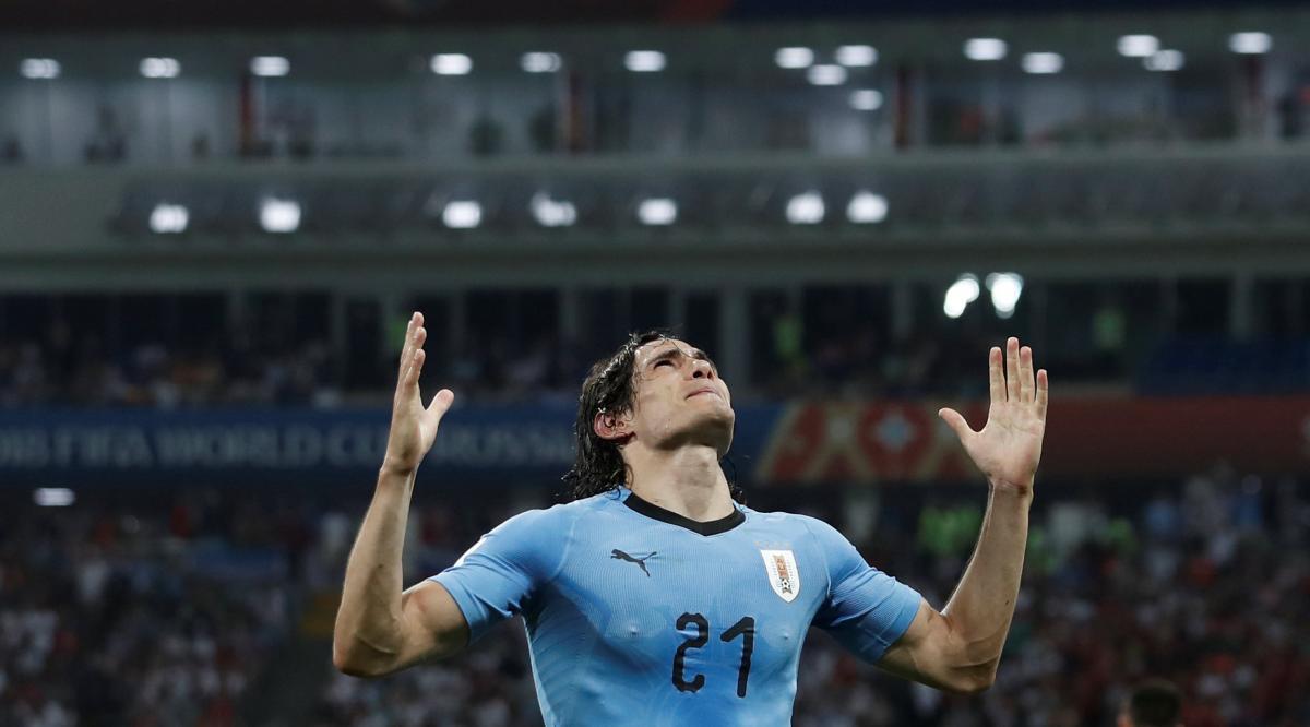 Эдинсон Кавани сделал дубль в матче плей-офф Уругвай - Португалия ЧМ-2018 / Reuters