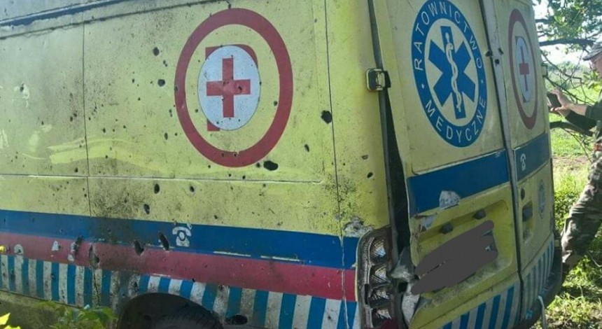 Donbas militants shell Ukraine positions, hit medevac vehicle
