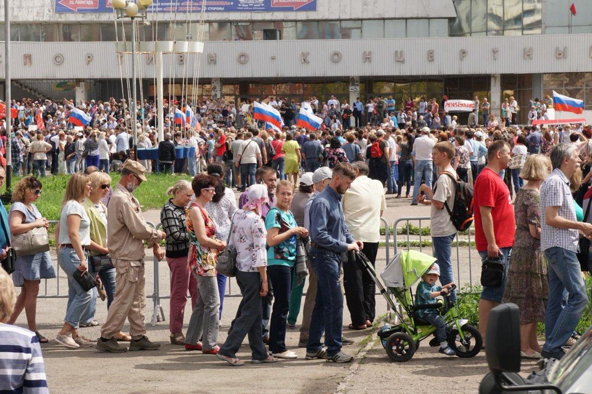 В российских городах состоялись акции против повышения пенсионного возраста / Twitter - Штаб Навального в Омске