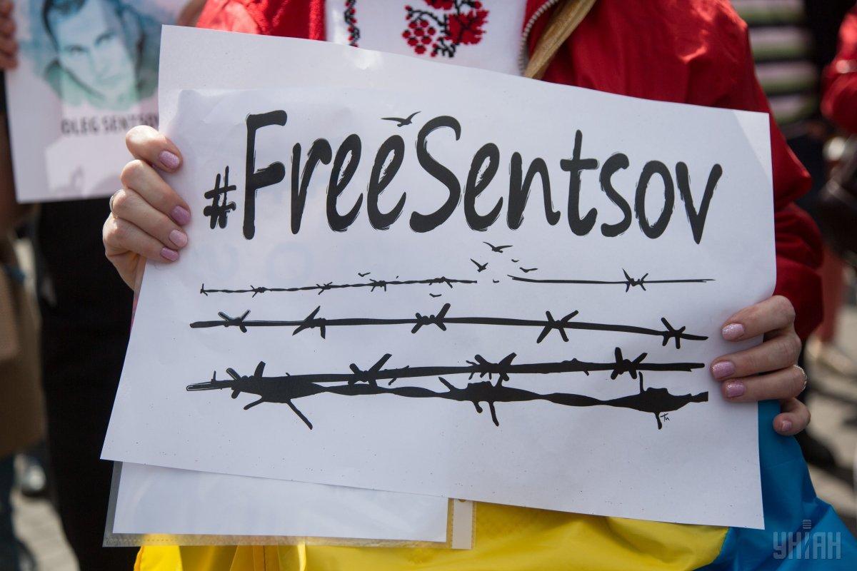 З 14 травня поточного року Олег Сенцов проводить безстрокову голодовку \ фото УНІАН