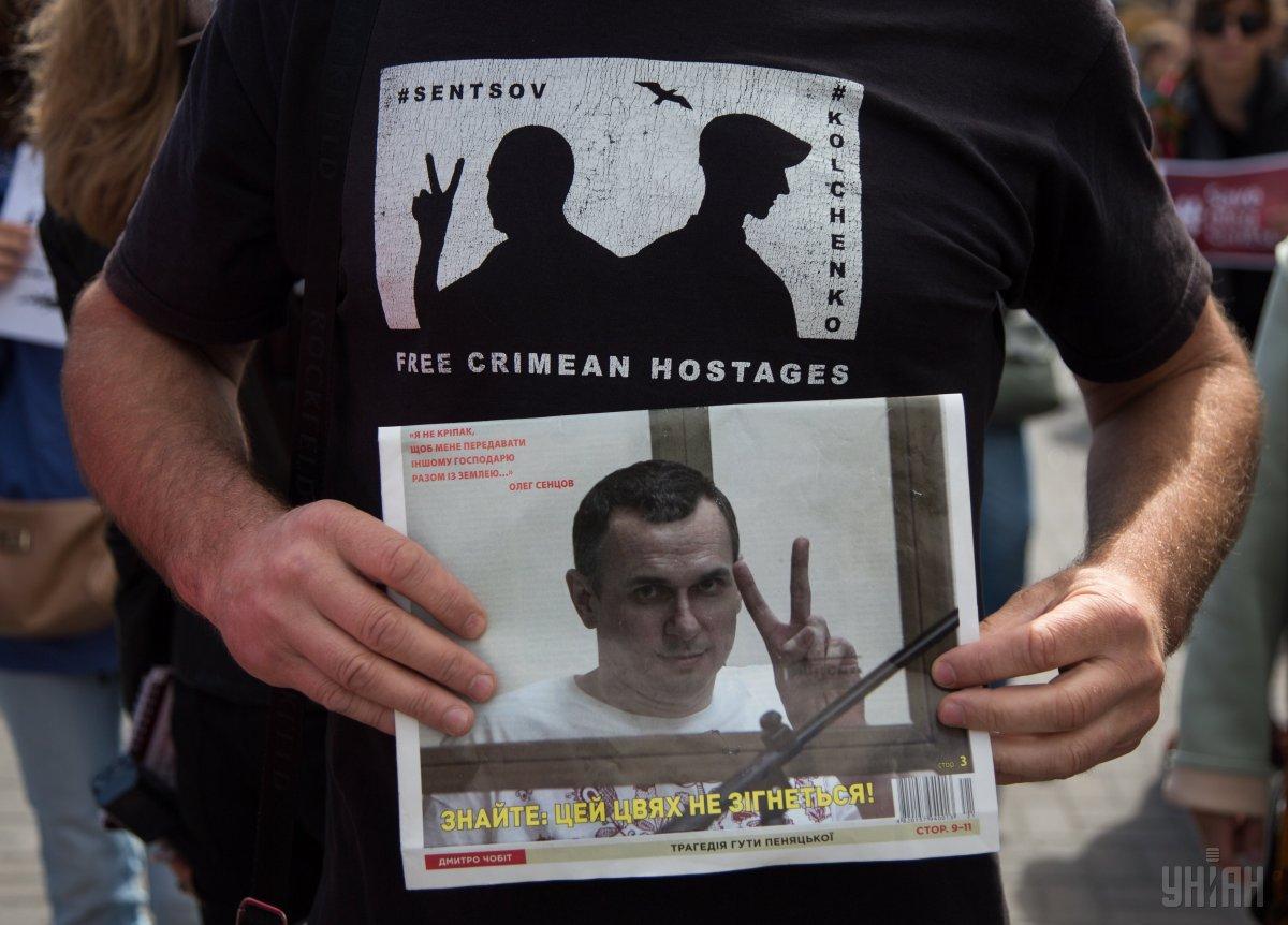 Сенцов живий і продовжує голодування / фото УНІАН