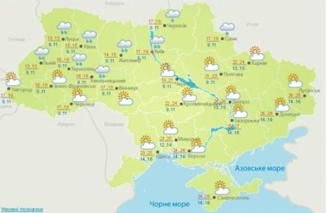 Прогноз погоды на 2 июля от Укргидрометцентра