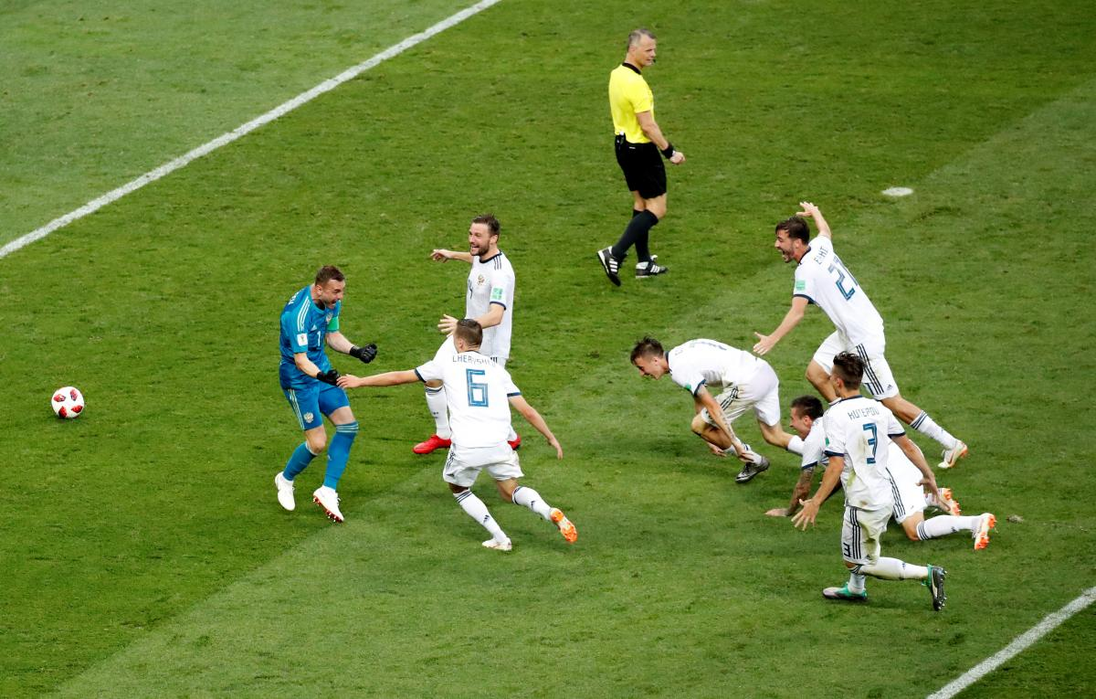 Сборная России вышла в четвертьфинал ЧМ-2018 по футболу / Reuters