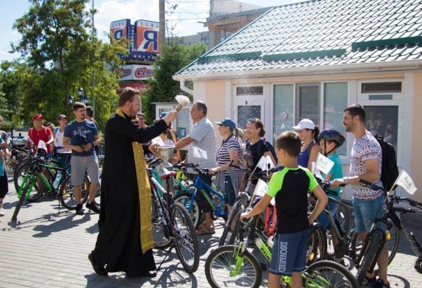 В Одессе состоялся молодежный велопробег / eparhiya.od.ua