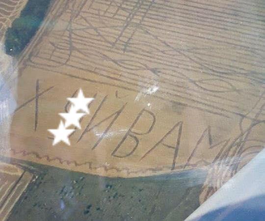 Журналистка показала фото с нецензурной надписью / фото facebook.com/zoyakazanzhy