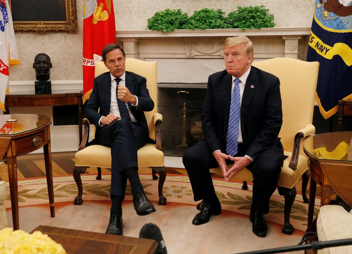 Марк Рютте та Дональд Трамп / REUTERS