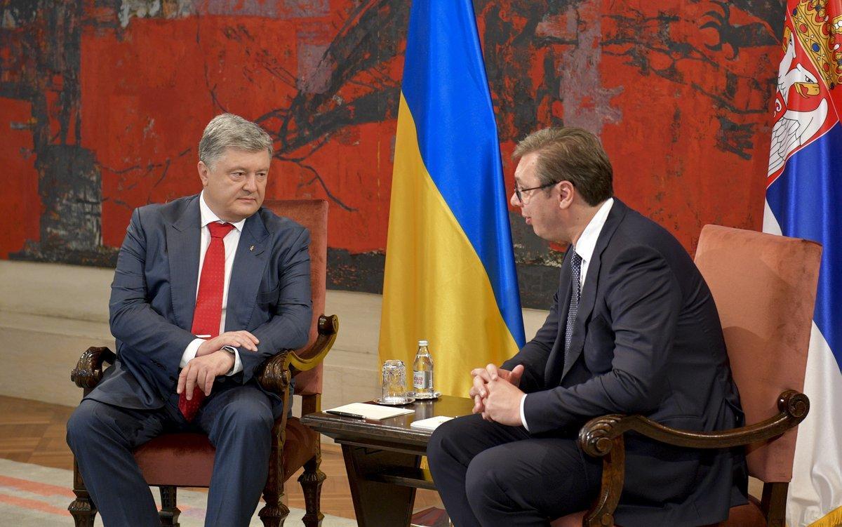Порошенко говорив Вучичу про те, що в України і Сербії одна мета - вступити в ЄС / twitter.com/poroshenko